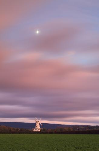 THE MOON AT SUNSET (Llancayo Windmill)