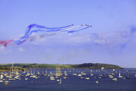 THE RED ARROWS OVER FALMOUTH BAY