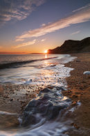 THE SETTING SUN FROM EYPE MOUNT BEACH
