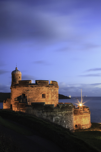 TWILIGHT AT ST MAWES CASTLE