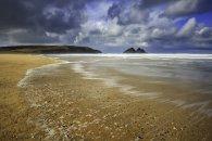 WAVE PATTERN ON HOLYWELL BEACH