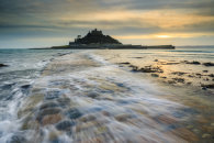 WAVE AT SUNSET (St Michael's Mount)