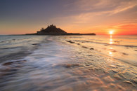 WAVE ON THE CAUSEWAY (St Michaels Mount)