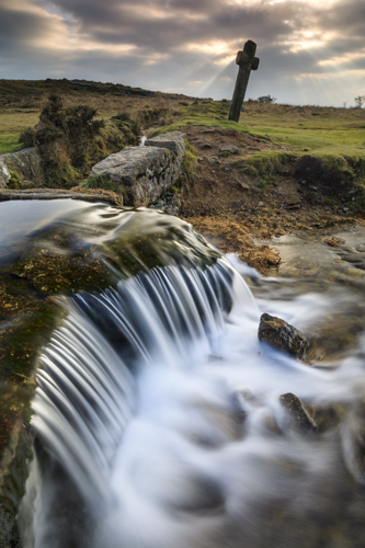 WINDY POST AND WATERFALL (Dartmoor)