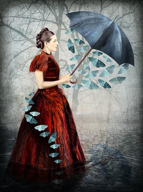 'Papillon' Greeting Card