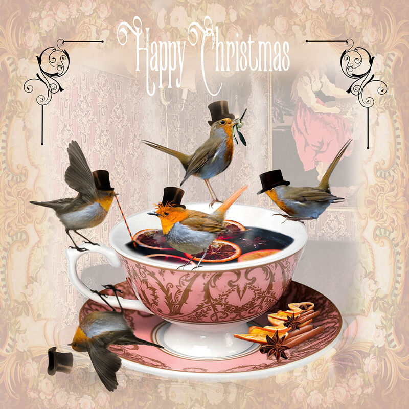 'Raucous Robins' Greeting Cards