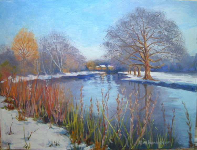 River Itchen in Winter (SOLD)
