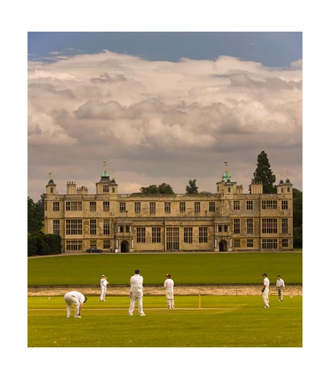 Cricket at Audley End house.