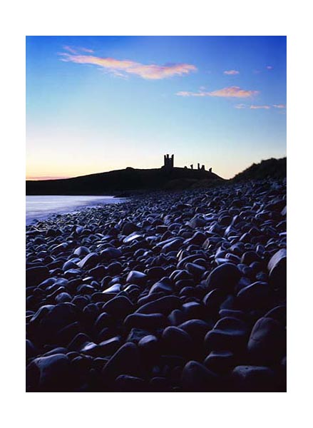 Dunstanburgh Castle from Embleton Bay, Northumberland.