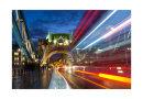 Light trails on Tower Bridge