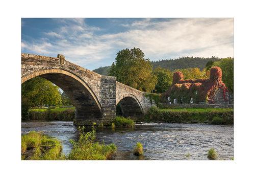 Bridge over the river Conwy, Llanrwst, Wales