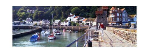 Lynmouth harbour, north Devon.