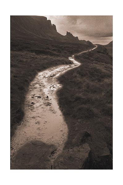 Footpath to the hills, Isle of Skye.
