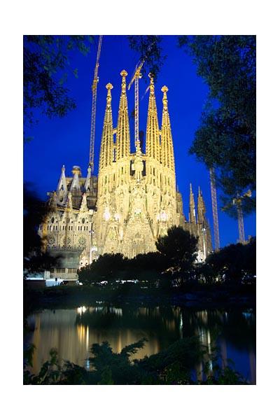 Gaudi designed La Sagrada Familia, Barcelona.