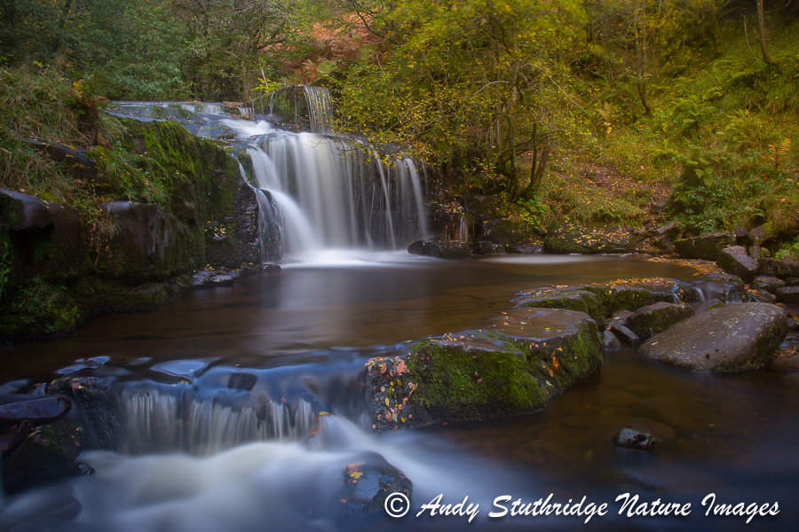 Autumn Waterfall,Brecon Beacons,Wales