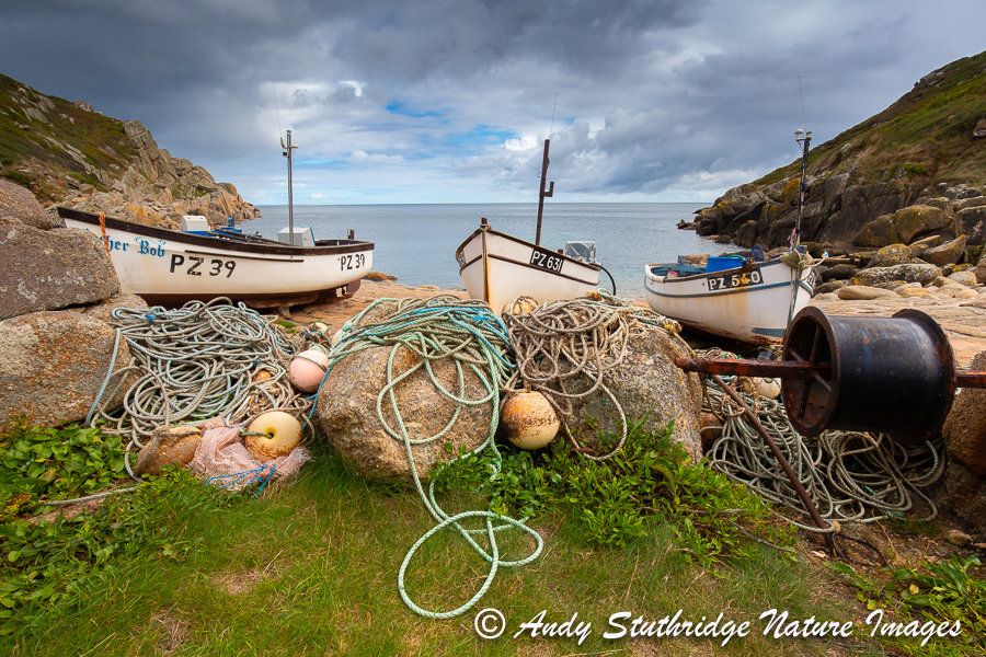 Fishing Boats at Penberth Cove, Cornwall