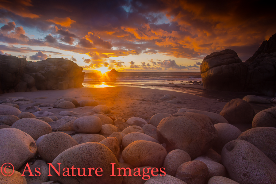 """ Porth Nanven Sunset,Cornwall"