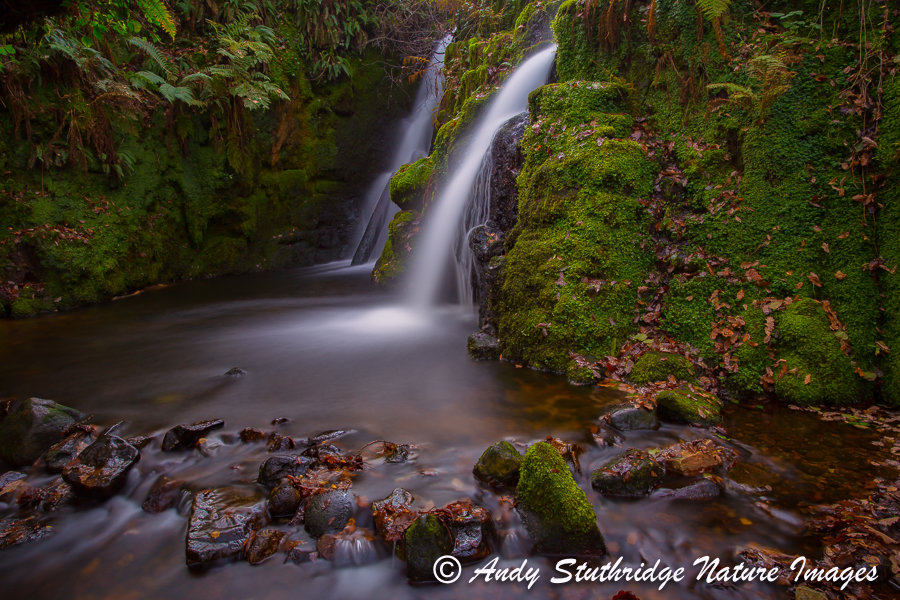 Waterfall at Vennford Brook Dartmoor