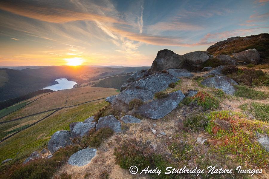 Derwent Edge, Peak District at Sunset