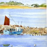 Towards Tresco Fishing boat