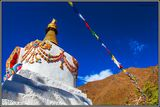 MOUNTAIN STUPA AND PRAYER FLAGS