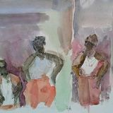 Ghanaian Fishing Village,Togo - 3 Figures