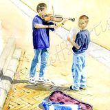Musicians, Piazza del Campo, Siena.