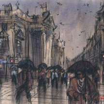 Umbrellas on Grey Street