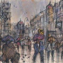 Umbrellas on Grainger Street
