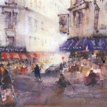 Busy Street in Paris