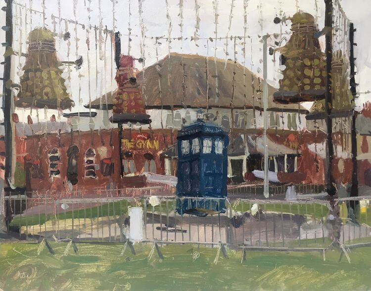 The Daleks and Tardis - Sold