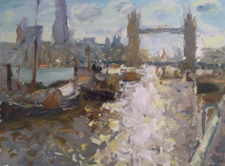 Towards Tower Bridge (12x16) - SOLD