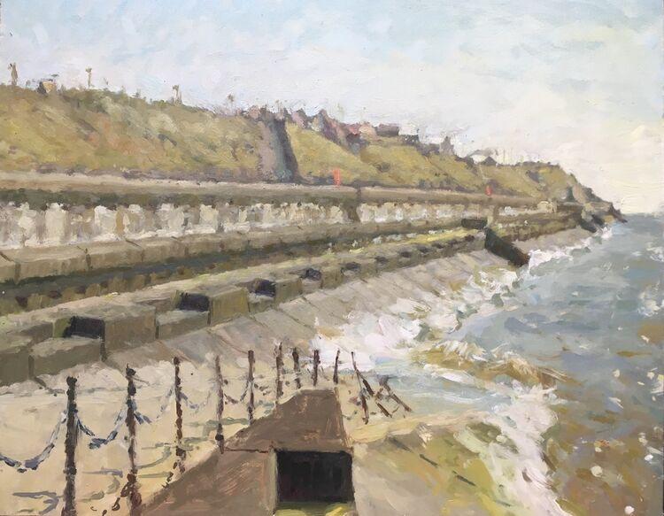 """Bispham Cliffs (16""""x20"""") - £995"""