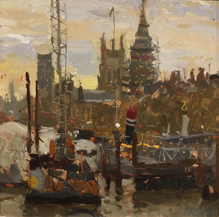 'Towards Westminster'- ROI Paint Live 2017 (1st Place) SOLD