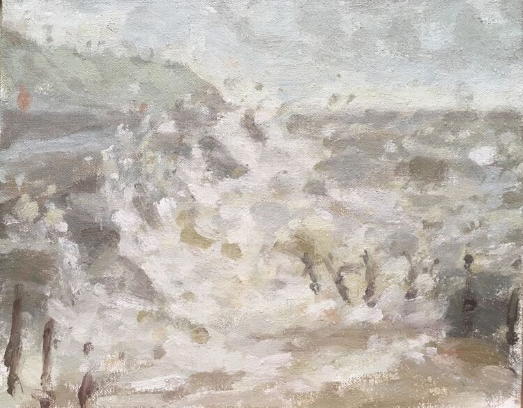"Wind, Rain & Seaspray (8""x10"") - £395"