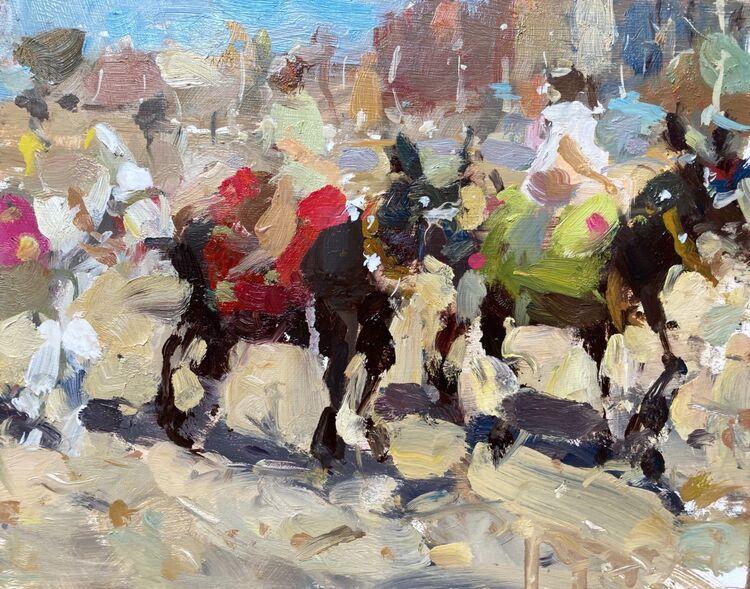 "Donkey Riders (8""x10"") - Sold"