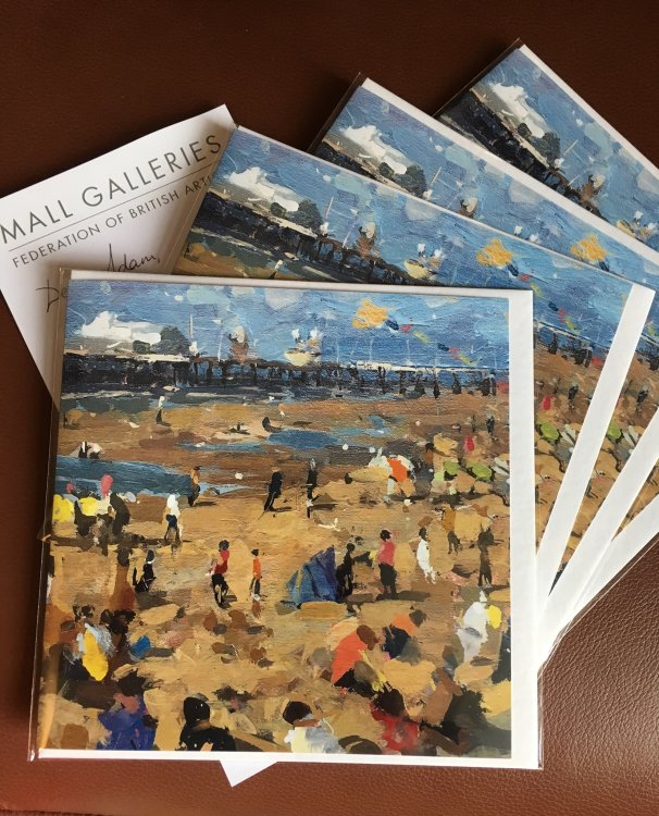 My NEAC painting made in to a greetings card available at the Mall Galleries shop