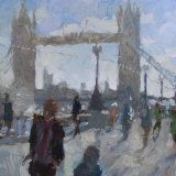 Towards Tower Bridge (11x14) - 525.00