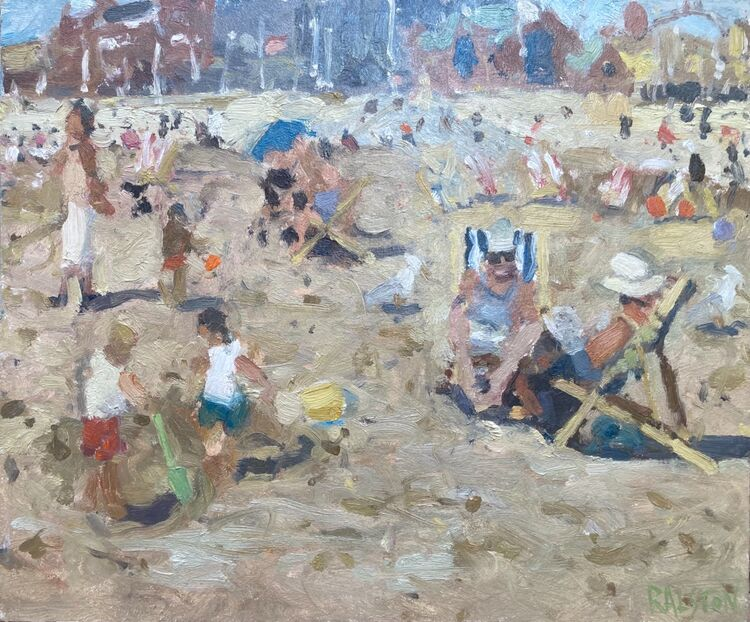 """A Day At The Beach (10""""x12"""") - £550"""