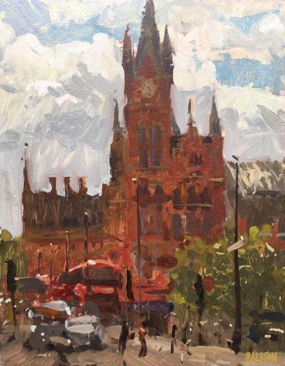 """Kings Cross, St.Pancras (14""""x11"""") - £650"""