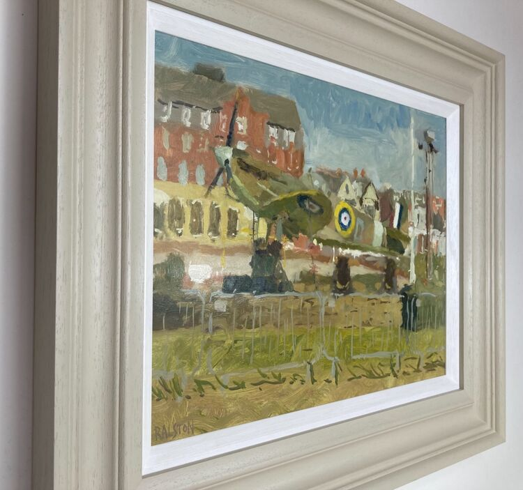 All paintings are framed as shown