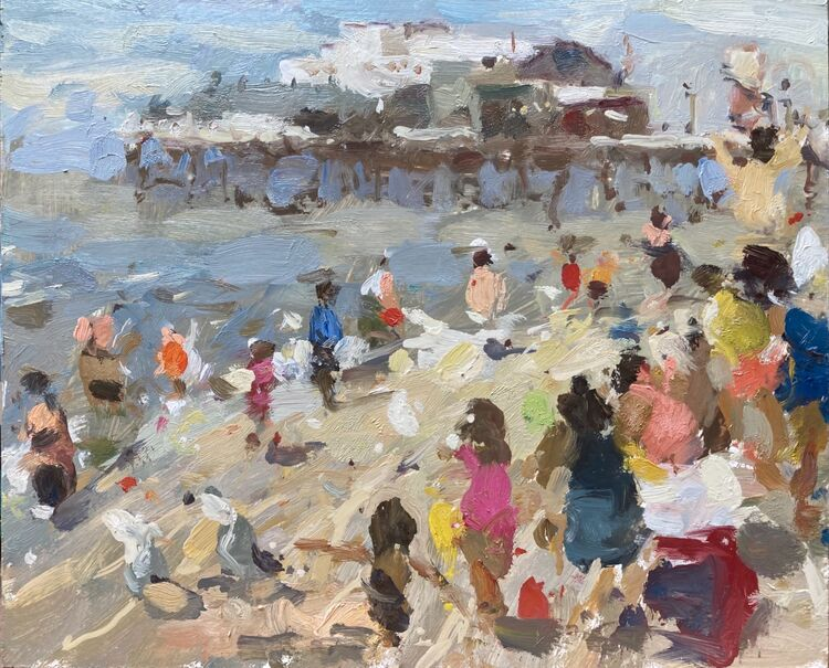 """At The Seaside (10""""x12"""") - £550"""