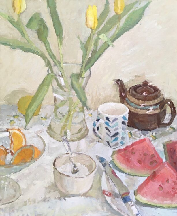 """Tulips And Watermelon (24""""x20"""") - £1195"""