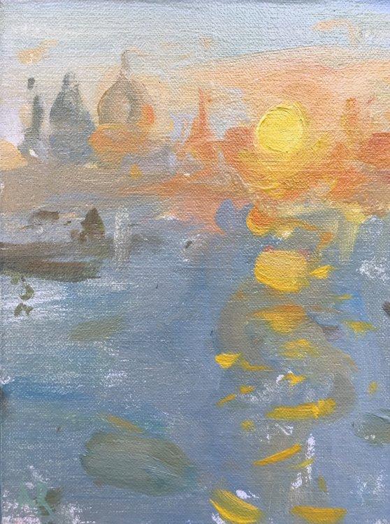 "Venice Sunset (8""x6"") £325"