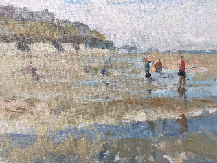 """Looking For Crabs (9""""x12"""") - £495"""