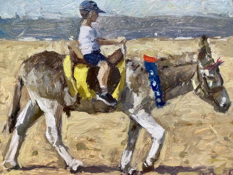"*NEW Donkey Ride III (6""x8"") - £295"