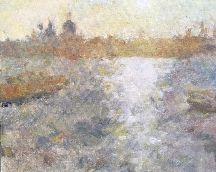 """Grand Canal Sunset (9""""x11"""") - Sold"""