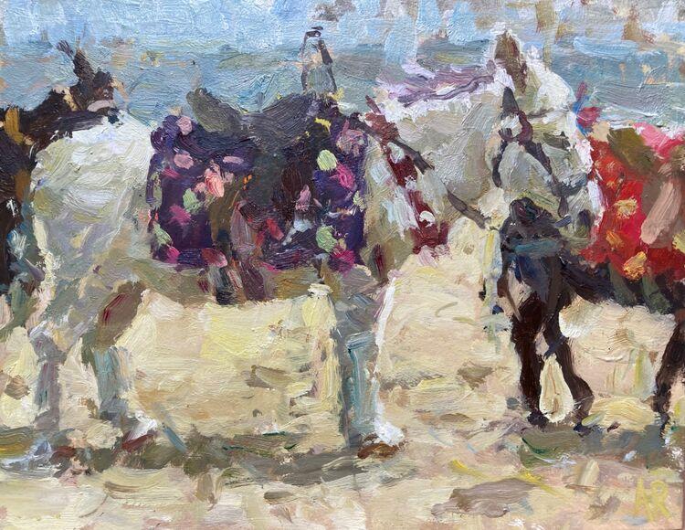"*NEW Beach Donkey (8""x10"") - £350"