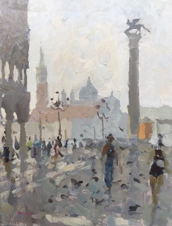 """Piazza San Marco (13""""x10"""") - Sold"""