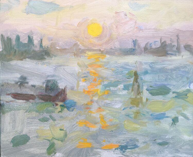 """Fondemente Sunrise (9""""x11"""") - £495"""